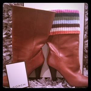 Coach Leather Midcalf Boots